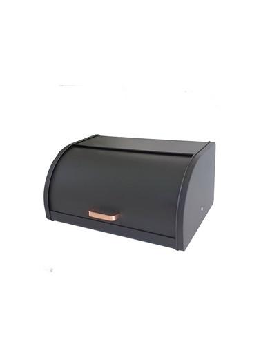 Acar Acar ALG-11039 Bakır Kulplu Metal Sürgülü Ekmeklik Siyah Siyah